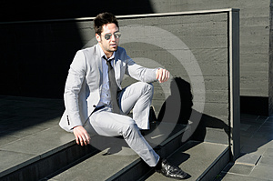 Attractive Young Businessman Laughing Stock Images - Image: 24481164