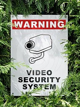 Cctv Signboard Stock Image - Image: 24481271