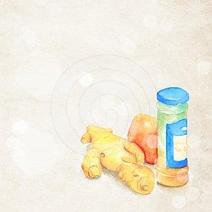 Ginger Royalty Free Stock Image - Image: 24489116