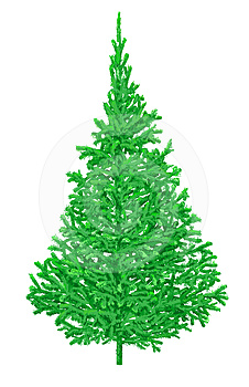 Illustrazione Dell'albero Della Pelliccia Fotografia Stock Libera da Diritti - Immagine: 24490207