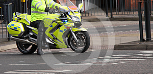 Police Motorcycle. Royalty Free Stock Photos - Image: 24492808