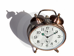 Bronze Vintage Alarm Clock Royalty Free Stock Photography - Image: 2458367