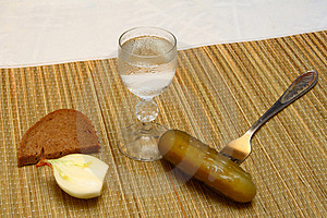Vodka With Russian Snacks Royalty Free Stock Image - Image: 2458846
