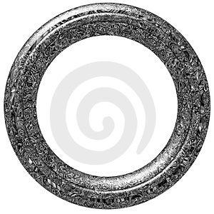 Circular Picture Frame Royalty Free Stock Image - Image: 2459266
