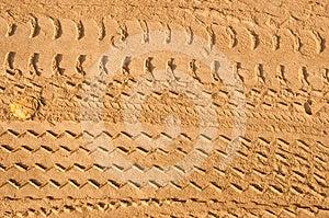 Car Tire Tracks Royalty Free Stock Photo - Image: 24526885