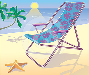 Sunbed On The Beach Stock Photography - Image: 24527922