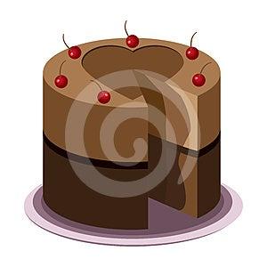 Tasty Chocolate Cake Royalty Free Stock Photos - Image: 24537708