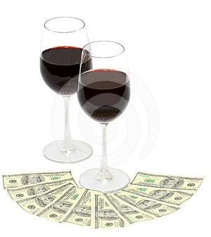 Wine And Money Stock Image - Image: 24538341