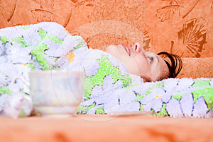 Girl Lying On The Sofa At Home Royalty Free Stock Photo - Image: 24538915