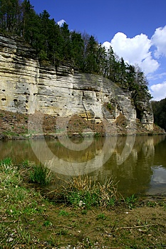 Lake With Rock Royalty Free Stock Images - Image: 24542039