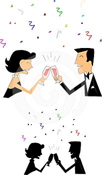 Celebration Toast Royalty Free Stock Photos - Image: 24543498