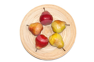 Williams Pears On Plate Royalty Free Stock Photography - Image: 24545137