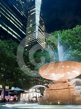 Illuminated Water Fountain At Night Royalty Free Stock Image - Image: 24550306