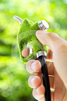Hand Holding Eco Fuel Nozzle Stock Image - Image: 24551041