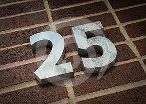 Number Twenty Five Stock Images - Image: 24551374