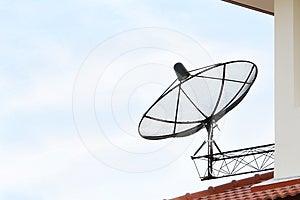Black Satellite Dish Stock Photography - Image: 24567562