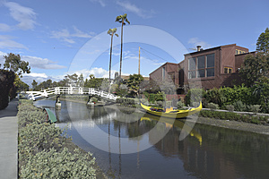 Venice Canals In California Stock Photography - Image: 24568352