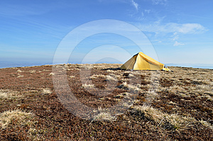 Landscape Of Camping Tent Royalty Free Stock Images - Image: 24570649
