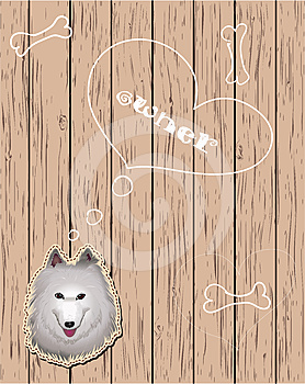 Wooden Card With Devoted Dog Royalty Free Stock Photos - Image: 24573778