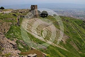 Pergamon Acropolis Theater Royalty Free Stock Image - Image: 24577316