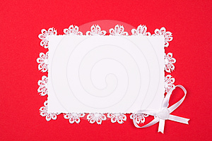 White Card For Congratulation Royalty Free Stock Image - Image: 24578086