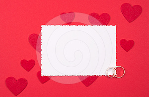 White Card For Congratulation Royalty Free Stock Photography - Image: 24578097