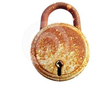 Rusted Iron Lock Stock Photos - Image: 24578463