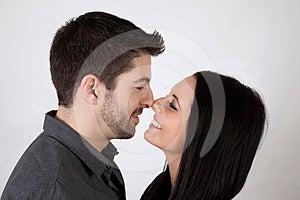 Touching Noses Stock Image - Image: 24581851