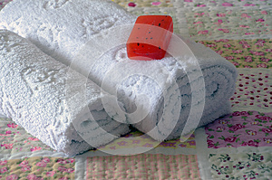 Towel Bed Royalty Free Stock Photo - Image: 24582565