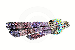 Hair Accessory Hairpin With Crystal Royalty Free Stock Photo - Image: 24586355