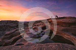 A Surpresa Da Rocha No Rio De Mekong Imagens de Stock Royalty Free - Imagem: 24592839