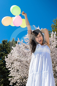 Happiness With Balloons Stock Image - Image: 24597821
