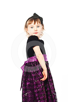 Little Cute Girl In A Dress Stock Photography - Image: 24599972