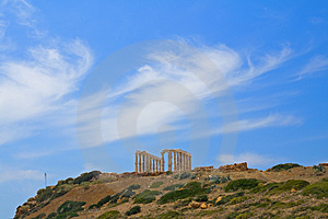 Poseidon, Greek Skyscape Royalty Free Stock Photography - Image: 2462127