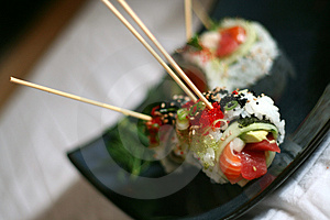 Skewered Sushi Dish Royalty Free Stock Photography