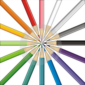 Pencils Target Stock Photography - Image: 2466252