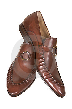 Brown Man's Low Shoes Royalty Free Stock Photography - Image: 2467237