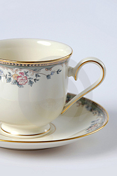 Close Up Of Fine China Cup And Stock Images - Image: 2467644