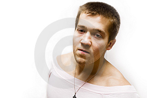 Portrain Angry Man Royalty Free Stock Photos - Image: 2468708