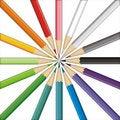 Pencils target Stock Photography