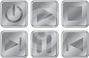 Buttons For Media Player Royalty Free Stock Photography - Image: 24610247