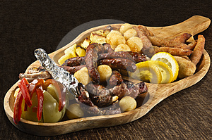 Rustic Tray Stock Image - Image: 24612771