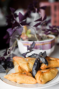 Pies On A Plate Royalty Free Stock Photos - Image: 24621348