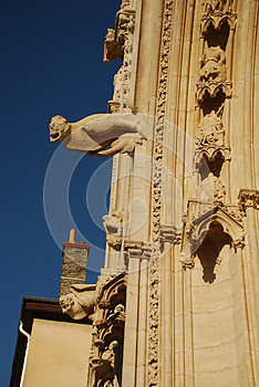 Lyon Cathedral Gargoyles Detail Royalty Free Stock Photo - Image: 24622115