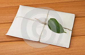 A Letter With A Green Leaf Royalty Free Stock Photos - Image: 24626978