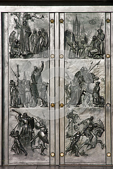 Doors To Historical Motives Royalty Free Stock Photo - Image: 24627745
