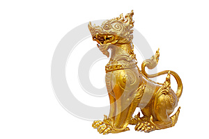 Isolated Singa , Mythical Lion Stock Image - Image: 24636361