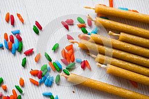 Church Candles Stock Images - Image: 24639974