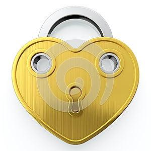 Golden Padlock Royalty Free Stock Images - Image: 24641389