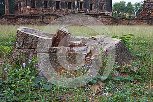 Stumps And Remains Of The Old Church. Stock Photos - Image: 24649933